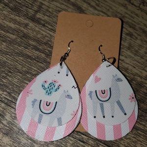 NEW 2 layer Llama earrings